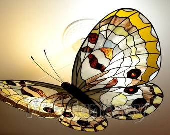 """Stained glass chandelier """"Apollo"""""""