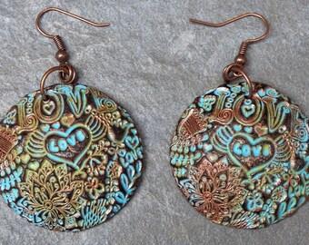 Love polymer clay earrings