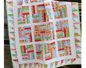 Quilt Pattern -  Chutes and Ladders -  Baby to King Sizes - Fat Quarter Friendly - Hard Copy Version - FREE SHIPPING!!!