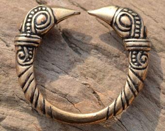 VIKING RAVEN RING Mammen Style bronze Viking Art Style Vikings Pagan Jewel Crow Norse Norway Animal Head Rings