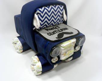 Diaper Cake, Truck Diaper Cake, Baby Shower Gift, Shower Centerpiece, Unique Diaper Cake, Baby Boy, Baby Girl, Gender Neutral Gift Ideas