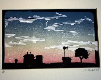 Prairie at Sunset
