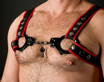 Nylon Harness with Handcuff