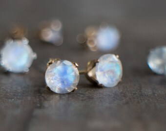 Moonstone Stud Earrings - June Birthstone