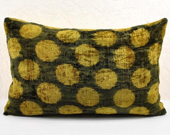 Sale!!! Handmade Velvet Silk Ikat pillow cover LP 7. Bohemian pillow
