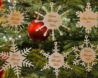 Excellent Gift for christmas season, they will love this Custom 6 Pc Snowflake Ornament for Christmas tree
