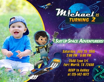 Miles from Tomorrowland Invitation, Miles from Tomorrowland Birthday, Miles from Tomorrowland Party