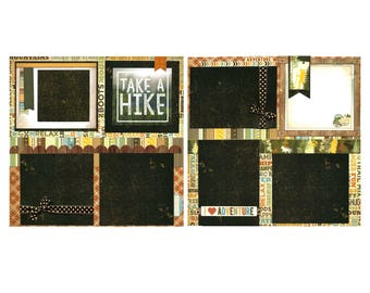 Take a Hike - Premade Scrapbook Page Set