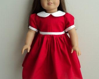 "NEW Handmade 18"" American Girl Doll Little Orphan Annie Dress"