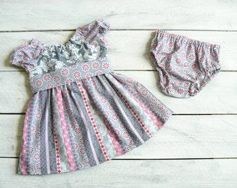 Peasant Dress - Girls Dress - Boutique Dress - Cotton Dress - Girls Spring Outfit - Easter Dress - Baby Dress - Custom Girls Dress