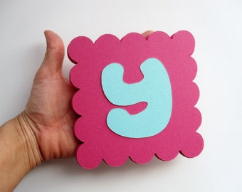 16 big Scalloped squares (5 inches)  - Do not include the die cut letters A28