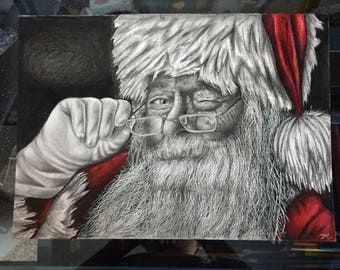 Santa Drawing Print