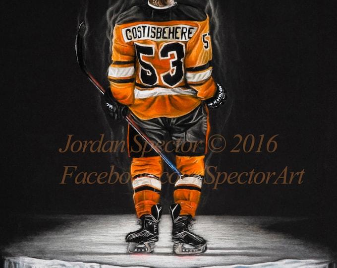 Shayne Gostisbehere - Philadelphia Flyers Art Print - Philadelphia Art - Man Cave - Flyers Decor - Dorm Decor - Flyers Art - Flyers Hockey