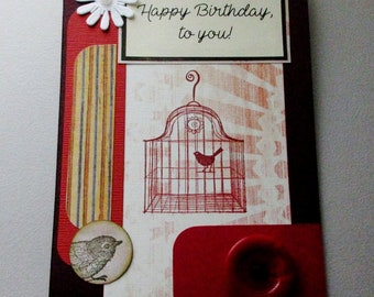Birthday card, Handmade birthday greeting card