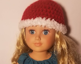 """Crochet winter hat for 18""""and American Girl doll"""