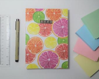 Personalized Citrus Mix Media Sketchbook