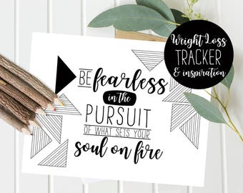 Weight Loss motivation - Weight Tracker - coloring page - Fitness Motivation and Inspiration - Quote Print - Instant Download - Print Today