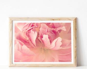 Peony Print, Flower Print, Blush Pink Peony Photograph, Pink Flower Print, Floral Print, Peony Art, Flower Photography, PRINTABLE Art