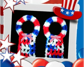HAIR BOW HOLDERS Red White Blue Patriotic Organizer Storage Hair Accessories Clips Hairbows Crochet Boutique CraftCreations