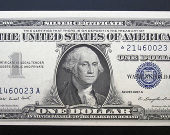 Series 1957-A One Dollar Silver Certificate Star Note *21460023 A