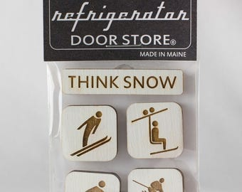 Gift for friends. Refrigerator Magnet. Fridge Magnets. Kitchen Magnets. Magnets. Think Snow.