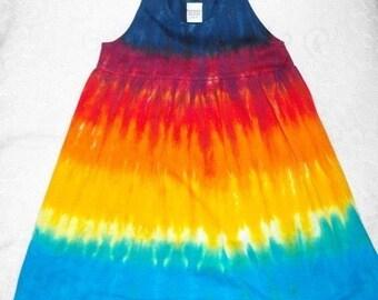 Tie Dye Rainbow Stripes Infant empire waist dress