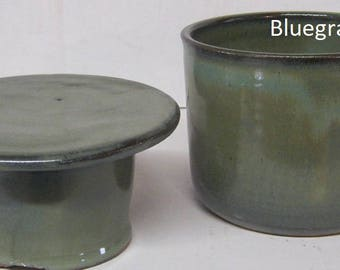 French Butter Dish, handmade pottery, butter tub, FREE SHIPPING, Keeps butter fresh for 2 weeks,  no need to refridgerate,