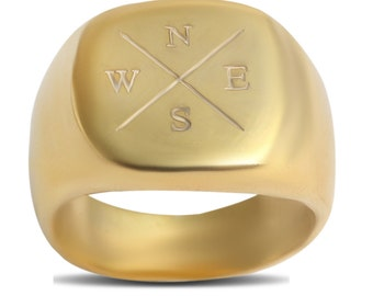 Compass Signet Ring / Compass Directions