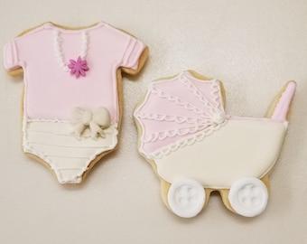 Baby Shower Stroller Cookies per doz