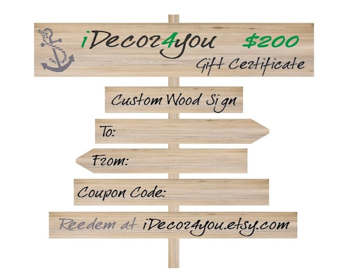 Printable Holiday Gift order, Purchase Gift Card,  Last Minute Gift Certificate, Gifts for Co-Workers, Easy Holiday Cards