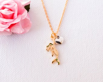 mermaid necklace, gold mermaid, mermaid gift, mermaid jewellery, mermaid jewelry, gold mermaid GM0117, bridesmaid gift, mothers day gift