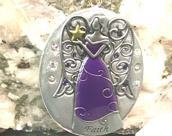 Angel of Faith Pendant Necklace
