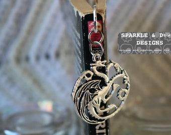 Game of Thrones Bookmark, targaryen dragons