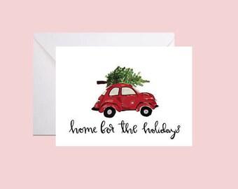 Printable Christmas Card - Home for the Holidays