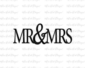 Mr & Mrs SVG DXF PNG File for Cameo, Cricut and other electronic cutters