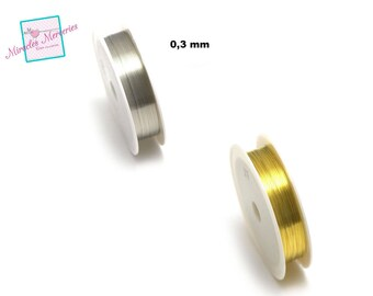 1 reel of copper wire (10 m x 0,3 mm), gold/silver