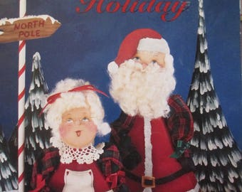 """Vintage Folk Art Decorative book """"Hetville Holiday"""" by Dee McCall 34 pages used book"""