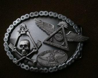freemasons widows sons masonic biker buckle