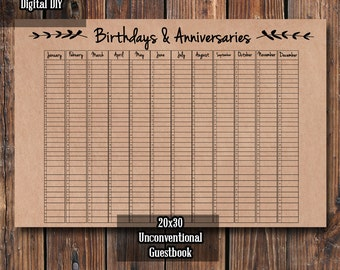 Unconventional Guestbook DIY || Birthday and Anniversary Guestbook || Wedding Guestbook (Print It Yourself)
