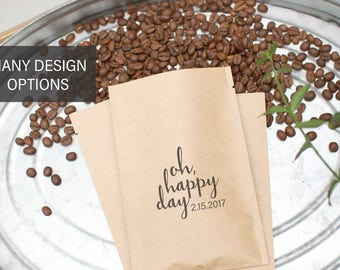 Coffee Wedding Favors | Coffee Favor Bags | Wedding Welcome Box | Bridal Party Favors | O Happy Day | Wedding Day Favors | Welcome Bags