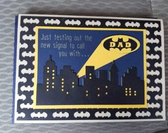Batman Father's Day card
