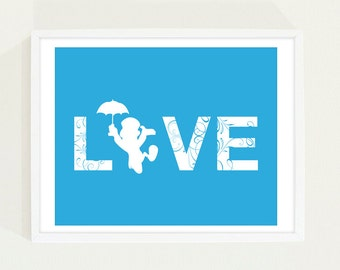 Digital Download Custom Listing LOVE Typography Poster - LOVE