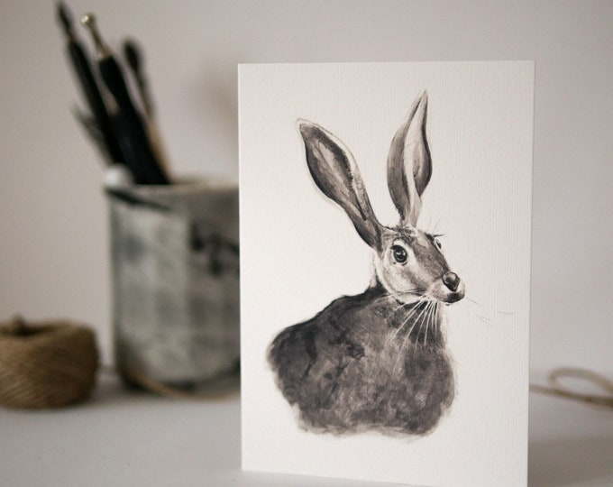 Hare Easter Card