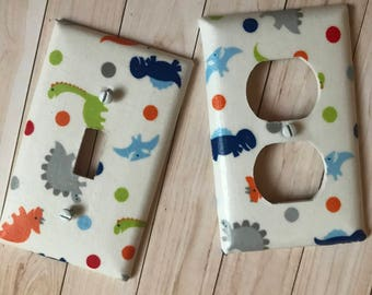 Dinosaur Light Switch Cover Outlet Cover Toddler Room Bethroom