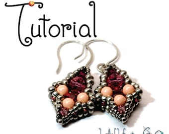 TUTORIAL -- Iris Drop Beaded Earrings