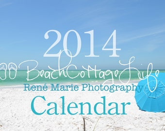 """2014 Wall Calendar Beach Cottage Life 