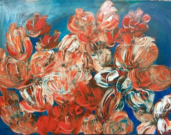 Painting Flowers Abstract