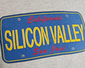 Vintage Silicon Valley San Jose California Tee Shirt  - Puffy Ink Screenprint