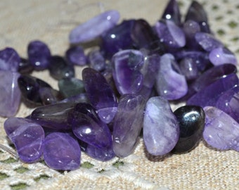 Amethyst Extra Large Chips Beads Gemstone Bead 16 Inch Strand