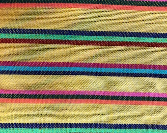 Mexican Fabric Ethnic Mexican Colorful Striped Red Fabric Yard Cambaya